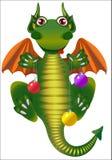 Dragon with Christmas ball Royalty Free Stock Image