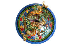 Dragon in the circle Stock Images