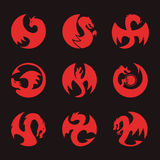 Dragon Circle Icon Royalty Free Stock Photography