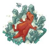 Dragon city fun. Art comic doodle royalty free illustration
