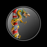 Dragon coins. With authority over all else Stock Photo