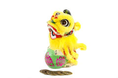 Dragon and coins royalty free stock image