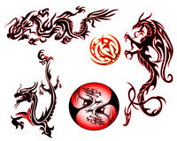 Dragon collection royalty free illustration
