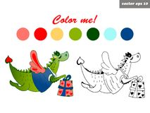 Dragon color Royalty Free Stock Images