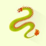 Dragon color icon flat design vector Stock Image