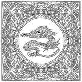Dragon coloring zentangle Royalty Free Stock Image