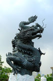 Dragon column stock photo