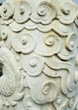 Dragon column. A dragon column made of white marble Stock Photography