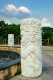 Dragon column. A dragon column made of white marble Royalty Free Stock Photography