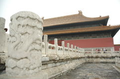 Dragon Column, Forbidden City, China Royalty Free Stock Photos