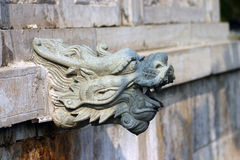 Dragon culture. The dragon culture in chinese building Royalty Free Stock Photos