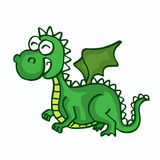 Dragon cute smiling happy toy for kids. Vector illustration Royalty Free Illustration