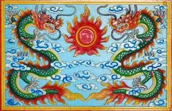 Dragon découpé par bois Photo libre de droits