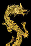 Dragon d'or. Photo stock