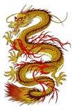 Dragon d'or Photo libre de droits
