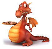 Dragon d'amusement illustration stock