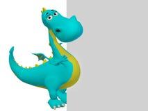 Dragon 3d cartoon Stock Images