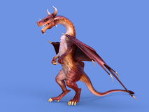 Dragon. 3D CG rendering of a dragon stock photos