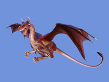 Dragon. 3D CG rendering of a dragon Royalty Free Stock Photos
