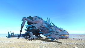 Dragon. 3D CG rendering of a dragon royalty free stock photo