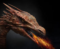 Dragon. 3d computer generated; quality render stock illustration