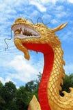 Dragon d'or de porcelaine Photo libre de droits