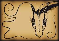 Dragon d'encre Photos stock