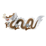 Dragon d'or et d'argent Images stock