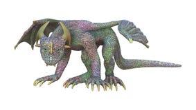 dragon d'imagination du rendu 3D sur le blanc Photo stock