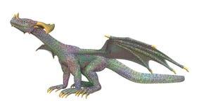 dragon d'imagination du rendu 3D sur le blanc Images stock