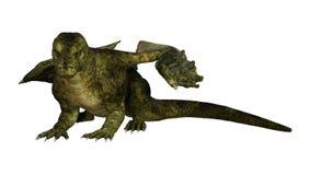 dragon d'imagination du rendu 3D sur le blanc Photos libres de droits