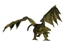 dragon d'imagination du rendu 3D sur le blanc Photos stock