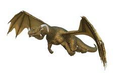 dragon d'imagination du rendu 3D sur le blanc Images libres de droits