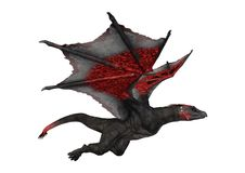dragon d'imagination du rendu 3D sur le blanc Image libre de droits