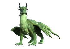 dragon d'imagination du rendu 3D sur le blanc illustration stock