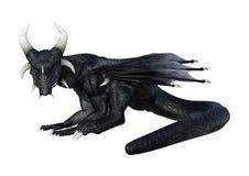 dragon d'imagination du rendu 3D sur le blanc Photographie stock libre de droits