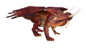 dragon d'imagination du rendu 3D sur le blanc Photographie stock