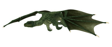 Dragon d'imagination sur le blanc Photo libre de droits