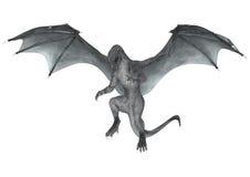 Dragon d'imagination sur le blanc Photographie stock libre de droits