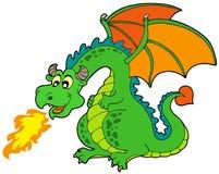 Dragon d'incendie de dessin animé Image libre de droits