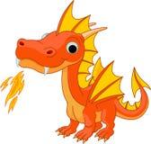 Dragon d'incendie de dessin animé Photographie stock