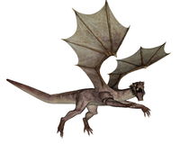 Dragon - 3D render Stock Images