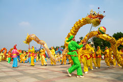 Dragon Dance Royalty Free Stock Photo