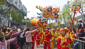 Dragon dance Stock Photography