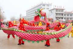 Dragon dance Royalty Free Stock Image