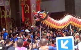 Dragon Dance Royaltyfri Bild