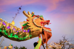 Dragon Dance in a Chinese New Year`s Celebration Stock Images