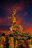 Dragon Dance in a Chinese New Year`s Celebration Royalty Free Stock Photos