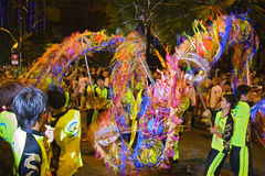 Dragon Dance, Chingay Parade, Johor Bahru, MY Royalty Free Stock Photo