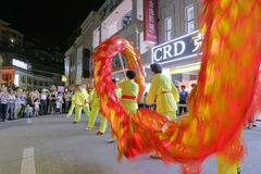 Dragon dance of 2016 cross - strait (Xiamen) ancient city folk culture festival Stock Images